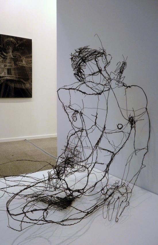 Escultura con alambre.