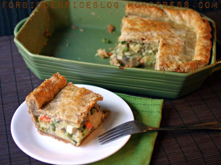 Herb and cheese vegetarian pot pie- Pie crust was excellent! Changed ...