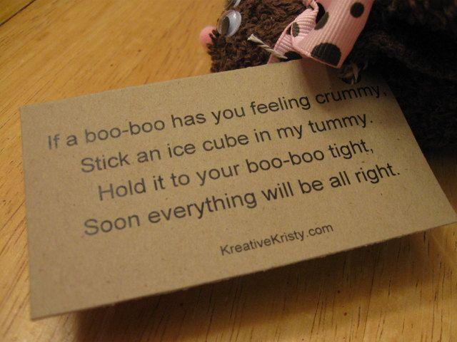 Brown boo boo bunny poem