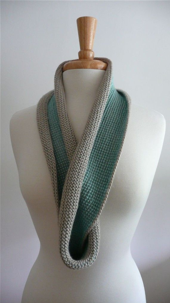 Infinity Twist Scarf Tunisian Crochet Sand and Sea by   crochet Twist Crochet Scarf