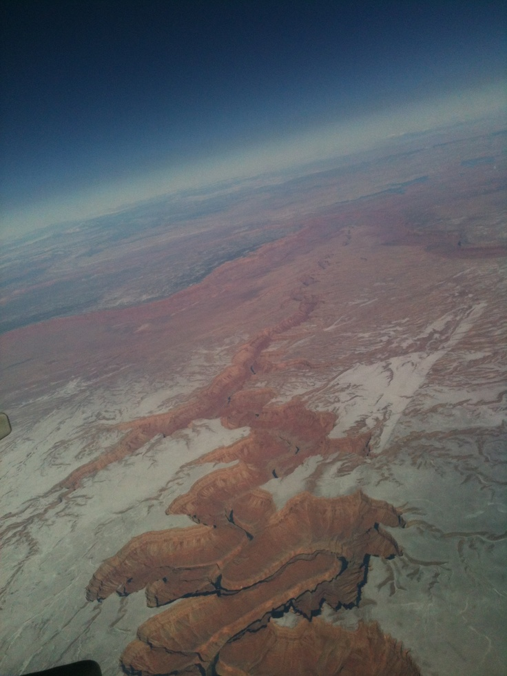 The Grand Canyon from the ISS. http://benigoat.tumblr.com/post/21849617135/the-grand-canyon-from-the-iss