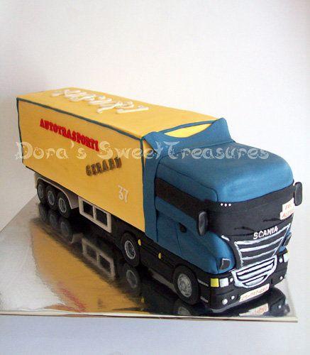 Cake Designs Truck : Truck Cake Cakes Big Rig Pinterest