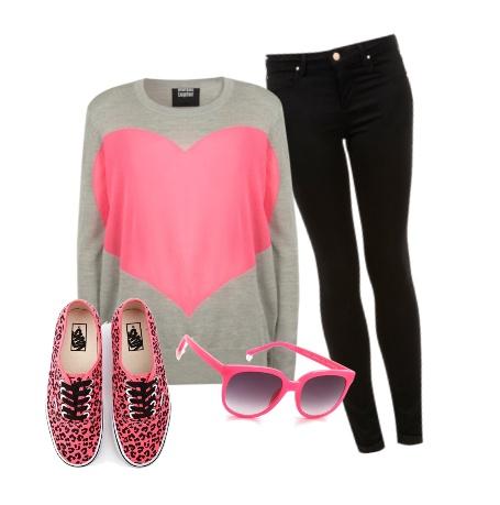 Vans Heart Sunglasses Neon Pink   Louisiana Bucket Brigade