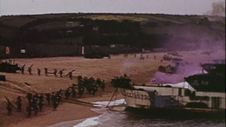 d-day color footage