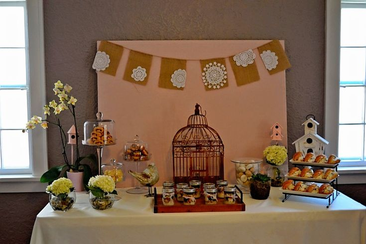 bird themed baby shower birds and bees party ideas pinterest