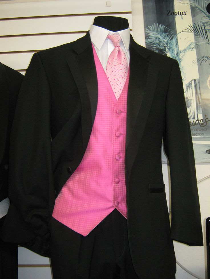 Pink And Black Wedding Tuxedo
