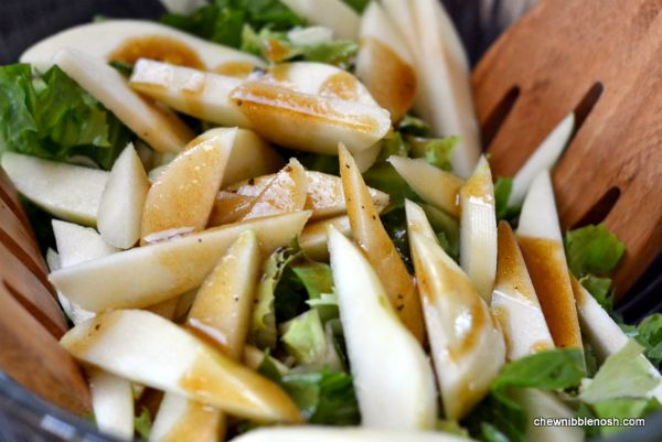 Roasted Butternut Squash Salad with Pears and Blue Cheese 3 - Chew ...
