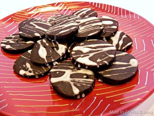 Nutella-Inspired Chocolate Hazelnut Shortbread Cookies ~ MAD IN CRAFTS