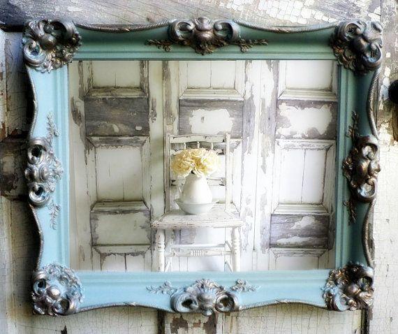 a n t i q u e nursery mirror shabby chic vanity bathroom