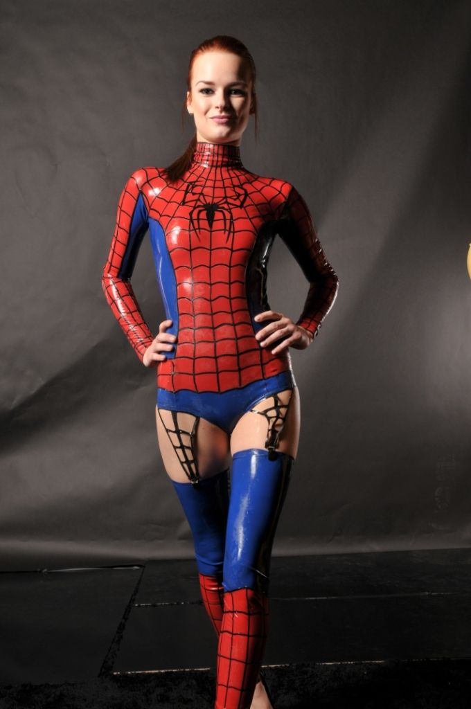 Sex girl cosplay spider