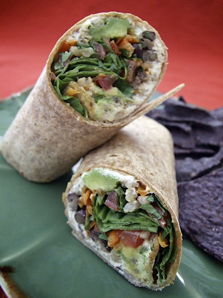 black bean and barley wraps, I think that Kim would like these because ...