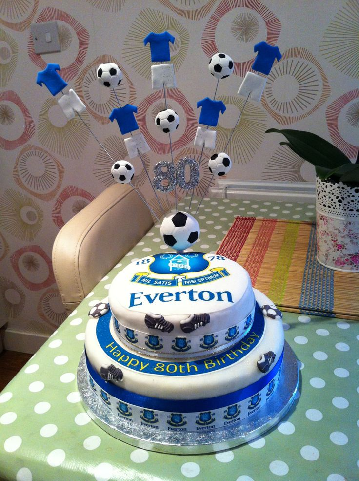 Everton Birthday Cake Decorations Image Inspiration of Cake and