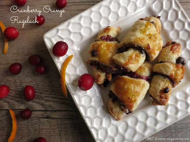 Cranberry Orange Rugelach perfect for #Thanksgivukkah, #Hannukah, and ...