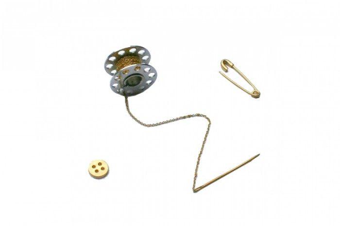 Ynac -  Kit De Couture - vermeil -   vermeil (argent recouvert d'or 750/1000 par placage)