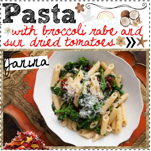"Pasta with broccoli rabe and sun dried tomatoes ♥"" by ..."