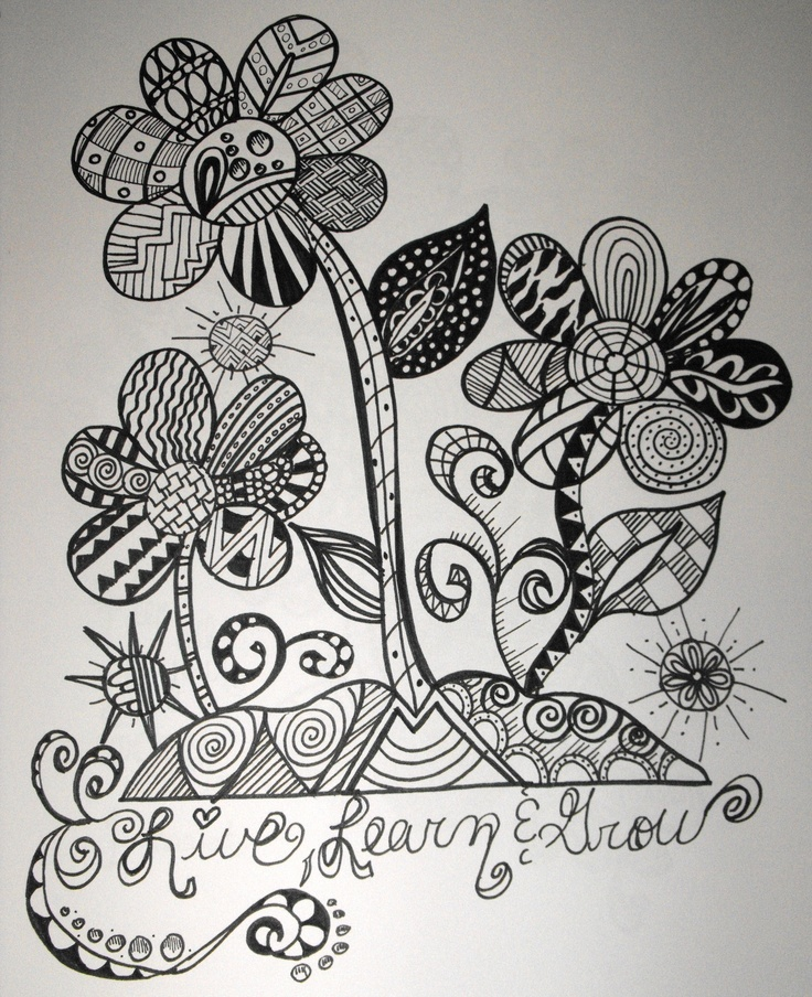 Love flower zentangles!