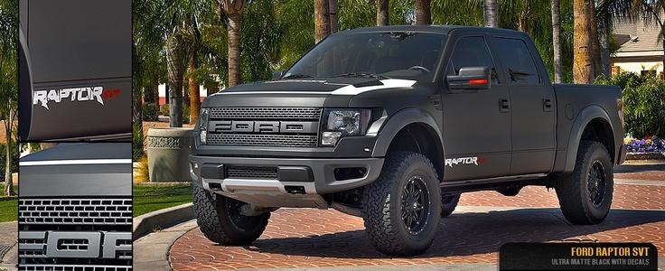 Matte Black Ford Raptor | Trucks/Cars | Pinterest
