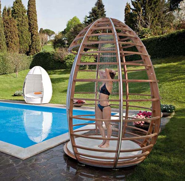 Pool Shower Idea Pools Pinterest
