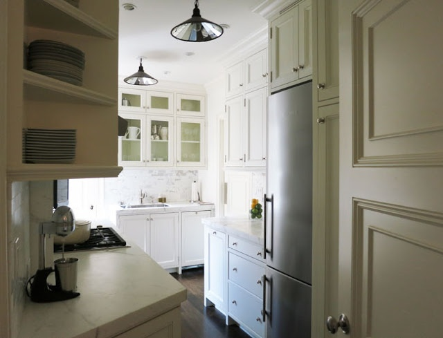 Small galley kitchen all white kitchen pinterest for White galley kitchen pictures