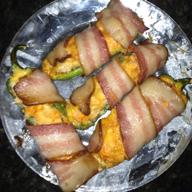 Bacon wrapped buffalo chicken jalapeño poppers... Say that 5 times ...