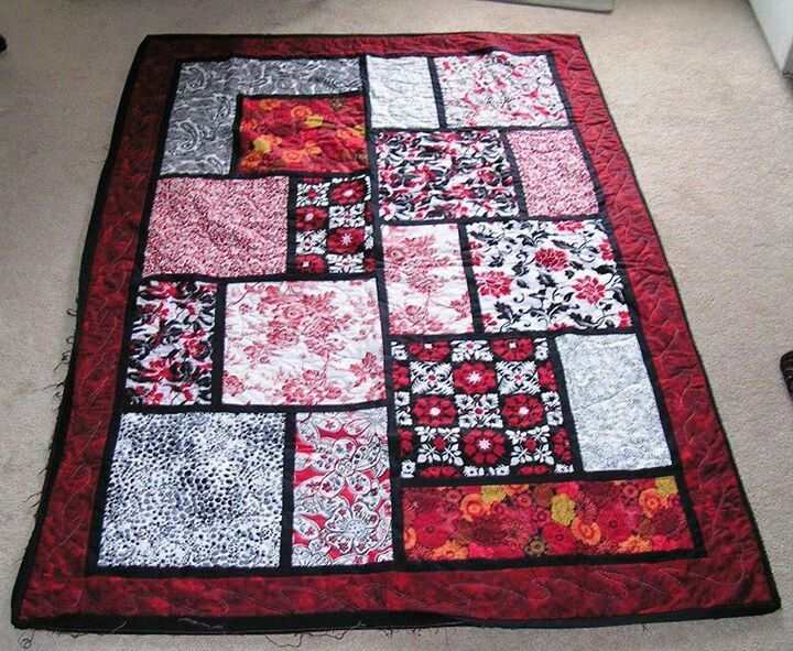 Big block quilt Big Block Quilts Pinterest