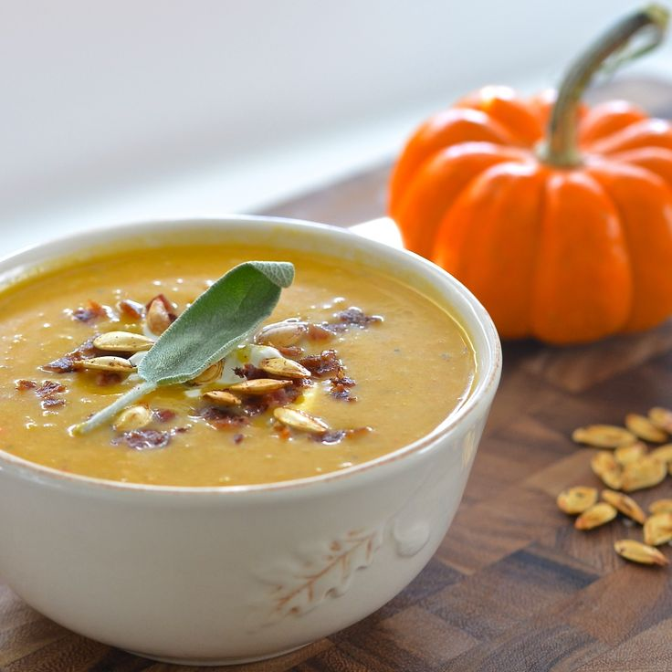roasted to make one fantastically flavorful Fall soup! Add cream, sage ...