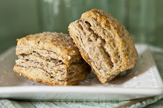 Flaky cinnamon biscuits