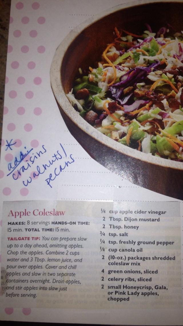 Apple slaw from Lauren | Food | Pinterest