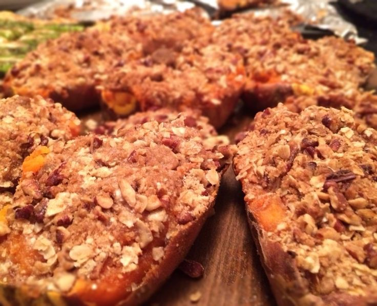 twice baked sweet potatoes with streusel topping. DELICIOUS! making ...