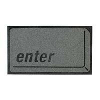 Enter key door mat
