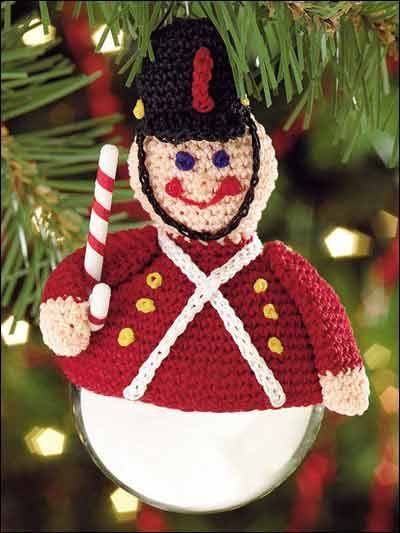 Free crochet pattern for toy soldier ornament topper