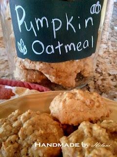 ... by Hilani: Guilt Free Pumpkin Oatmeal Cookies - High Fiber & Protein