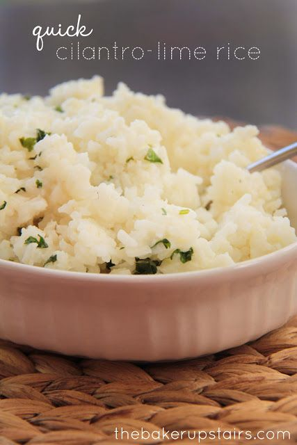Quick cilantro-lime rice from The Baker Upstairs. The perfect side ...