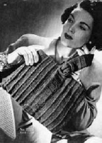 KNITTED PURSE #2725 - Vintage 1945 Handbag Knitting Pattern (ePattern) - Instant Download Kindle Ebook - AVAILABLE FOR DOWNLOAD to Kindle DX, Kindle for ... ENABLED (digital book, knit, bag)