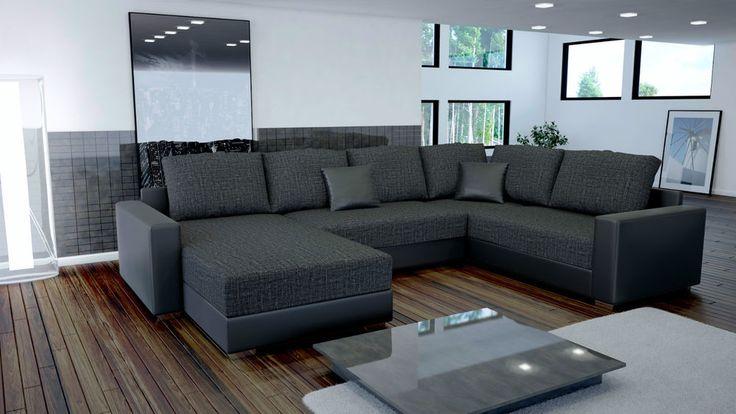 wohnzimmer couch poco:Couch Garnitur Ecksofa Sofagarnitur Sofa STYLO 3 U Wohnlandschaft