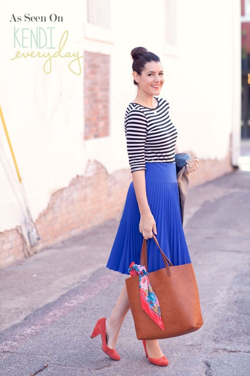Royal Pleated Skirt