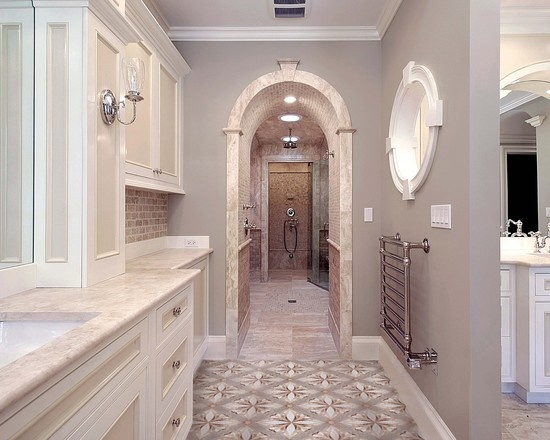 Luxury bath similar wall paint color is sw 7632 modern gray