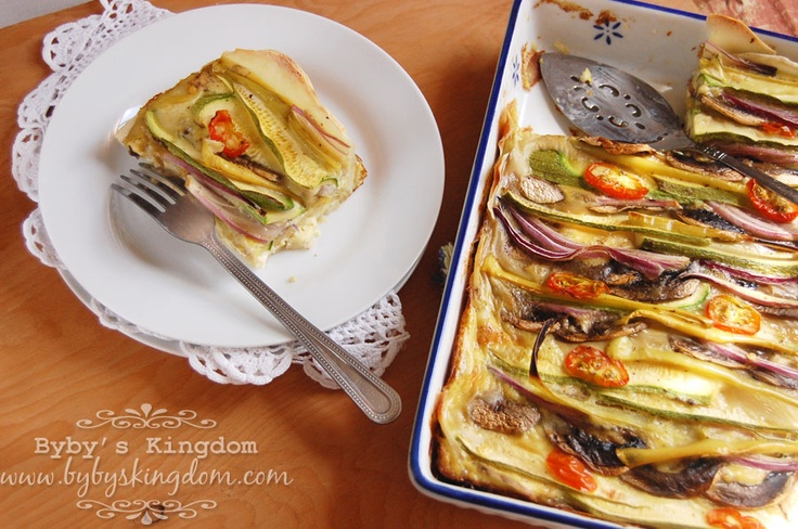Veggie Quiche with Potato Crust | From Byby's Kingdom | Pinterest