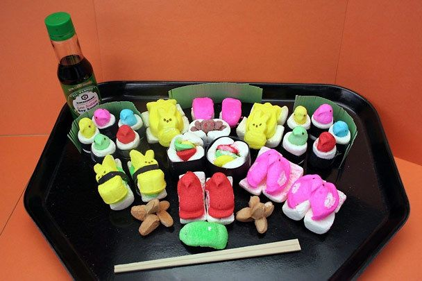 Peep sushi! | Happy Easter My Peepsters!! | Pinterest