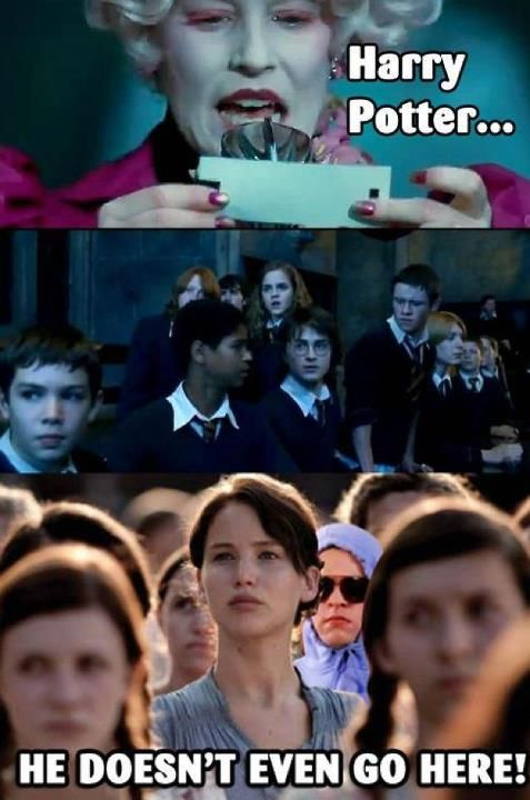 Mean Girls, Harry Potter, and the Hunger Games. Perfect! #College #Humor  #Funny