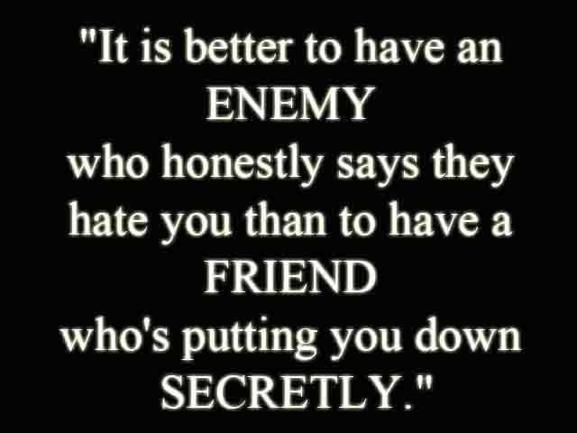 Friend Of My Enemy Quote : Fake friends suck quotes