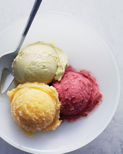 ... and the lemongrass basil ice cream I made earlier this year! Yummmmmm