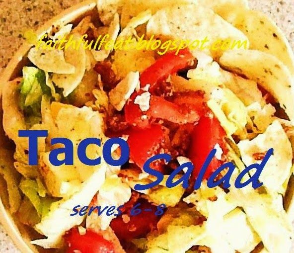 Taco Salad. One dish meal!!! #theultimateparty – Week 6