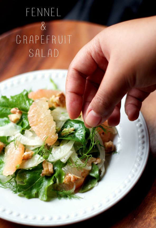 Fennel and Grapefruit salad -- the perfect cure for the winter blues ...