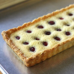 -Creme Fraiche Tart -the filling, with vanilla brown butter and creme ...