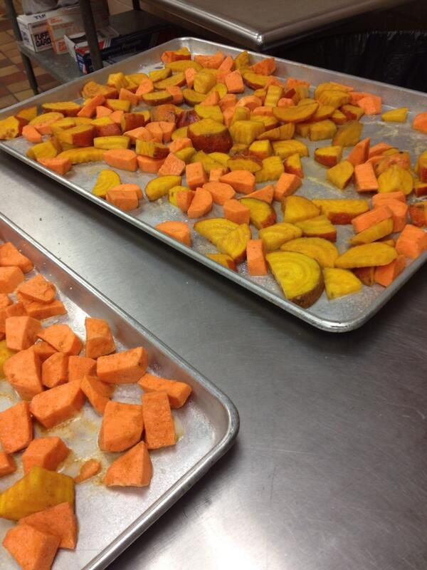 TIP: Roasted roots vegetables (sweet potatoes and golden beets) make ...