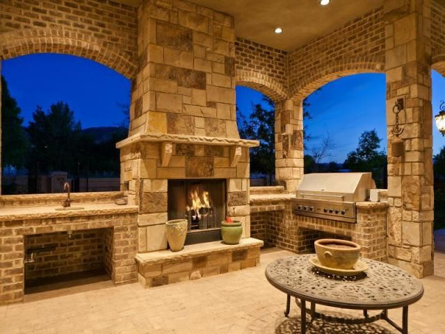 Beautiful Outdoor Fireplace And Patio Dream House