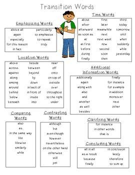 List of transition words for compare and contrast essay