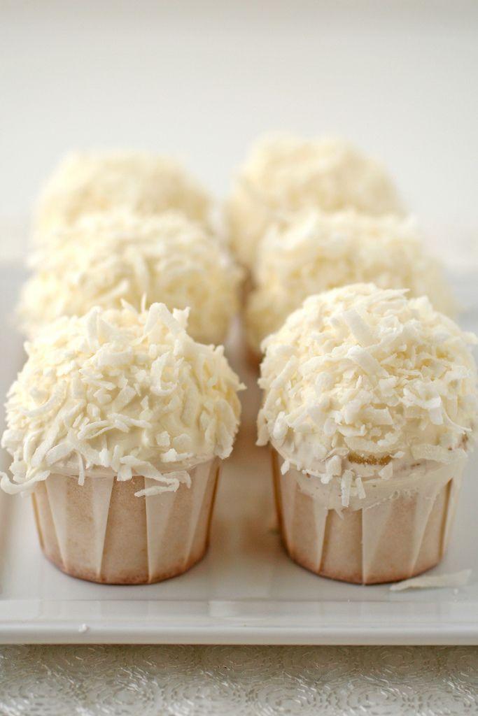 mini coconut cupcakes | Cutie Cupcakes! | Pinterest
