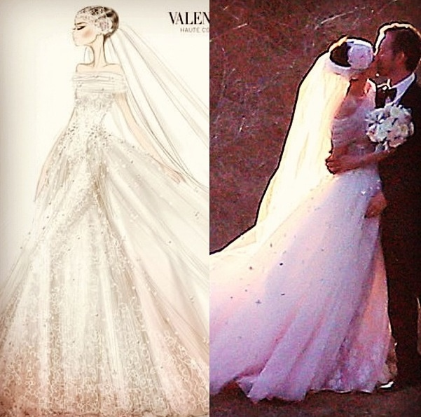 Suggestions online images of anne hathaway wedding dress anne hathaways valentino wedding dress weddings pinterest junglespirit Gallery